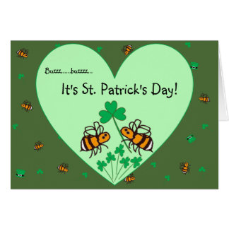 BuzzAboutBees St Patrick's Day greeting card