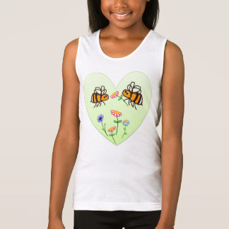 BuzzAboutBees Sweet Little Bees And Heart vest Tank Top