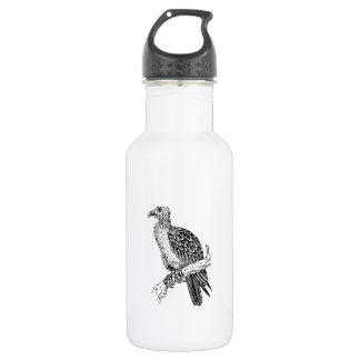 Buzzard Bird Art 18oz Water Bottle