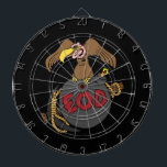 "Buzzard Bomb and Pick Dartboard With Darts<br><div class=""desc"">Buzzard,  Bomb and Pick design for EOD. Background color can be changed.</div>"