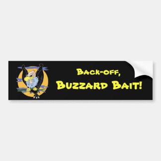 Buzzard bumper sticker