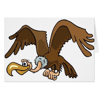 Cartoon Flying Vulture