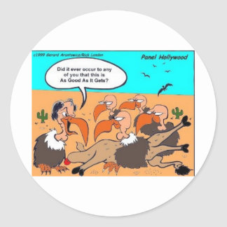 Buzzard In Ecstacy Funny Gifts Tees & Collectibles Classic Round Sticker