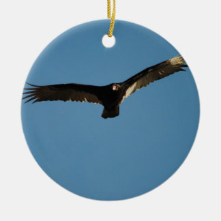 Buzzard in Flight 1 Ceramic Ornament
