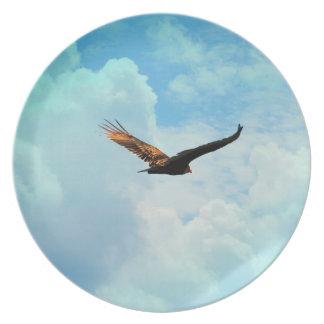 Buzzard in Flight 3 Plate