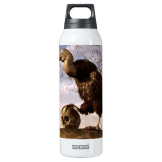 Buzzard with a Skull 16 Oz Insulated SIGG Thermos Water Bottle