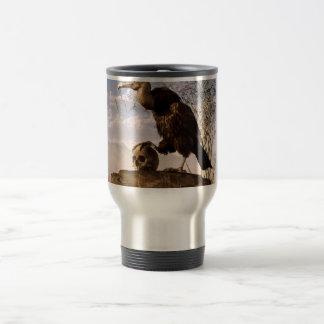Buzzard with a Skull Travel Mug