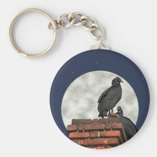 Buzzards Against Moon Key Ring Basic Round Button Keychain