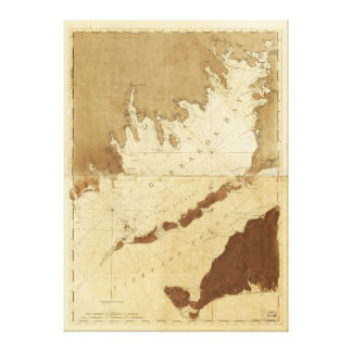 Buzzards Bay & Vineyard Sound Mass. Map (1776) Canvas Print