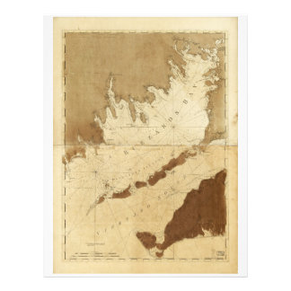Buzzards Bay & Vineyard Sound Mass. Map (1776) Letterhead