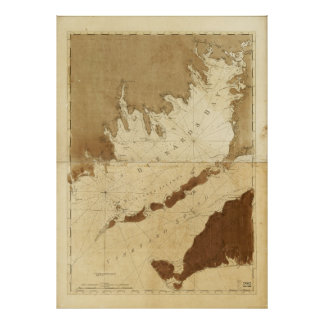 Buzzards Bay & Vineyard Sound Mass. Map (1776) Poster