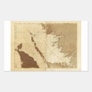 Buzzards Bay & Vineyard Sound Mass. Map (1776) Rectangular Sticker