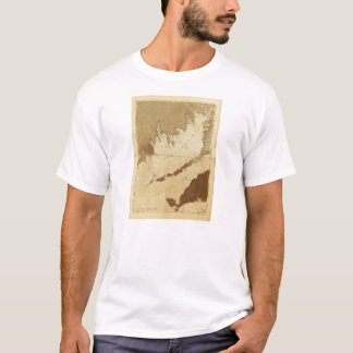 Buzzards Bay & Vineyard Sound Mass. Map (1776) T-Shirt