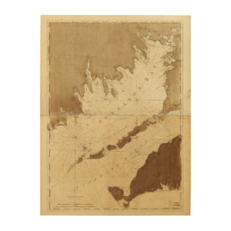 Buzzards Bay & Vineyard Sound Mass. Map (1776) Wood Wall Decor