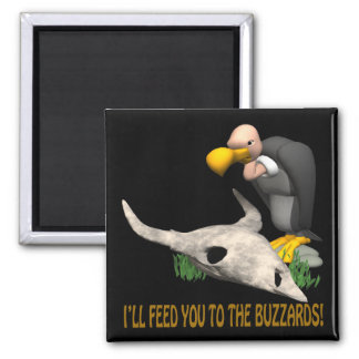 Buzzards 2 Inch Square Magnet