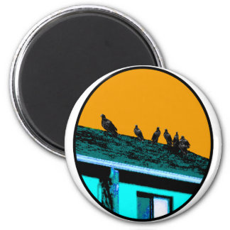 Buzzards o Cyan Gold The MUSEUM Zazzle Gifts 2 Inch Round Magnet