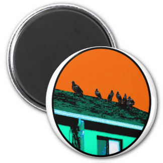 Buzzards o Green Orange The MUSEUM Zazzle Gifts 2 Inch Round Magnet