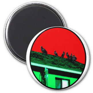 Buzzards o Green Red The MUSEUM Zazzle Gifts 2 Inch Round Magnet