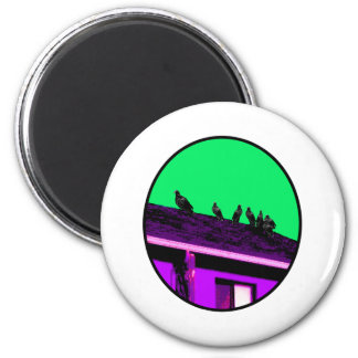Buzzards o Purple Green The MUSEUM Zazzle Gifts 2 Inch Round Magnet