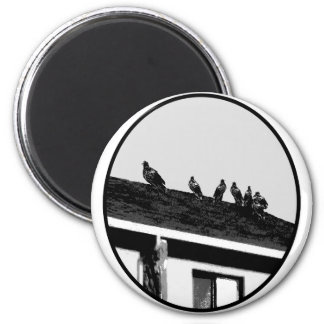 Buzzards o White Black The MUSEUM Zazzle Gifts 2 Inch Round Magnet