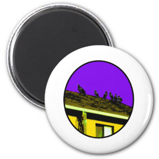 Buzzards o Yellow Purple The MUSEUM Zazzle Gifts 2 Inch Round Magnet