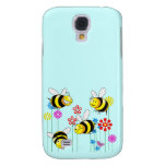 Buzzed Bees in Flowers Samsung Galaxy S4 Cases