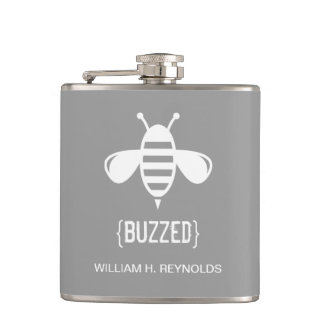 {BUZZED} Bridal Party Buzzed Bee Gift (platinum) Flask