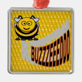 BUZZEEDDD BEE METAL ORNAMENT