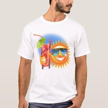 Beach Themed Buzzer Sun smiley T-Shirt