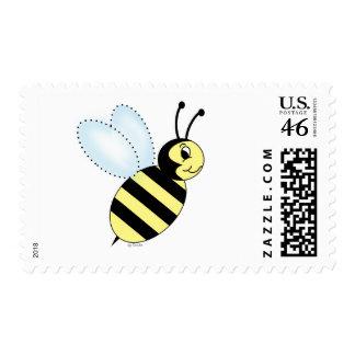 Buzzin' Bee Postage Stamp