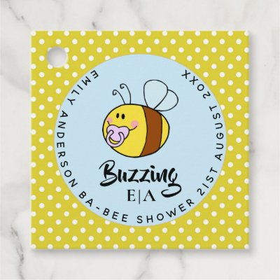 Buzzing Ba-BEE Baby Shower Cute Thank You Favor Favor Tags