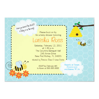 Buzzing Bees Baby Shower 5x7 Invitation