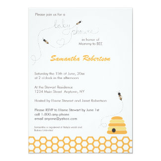 Buzzing Bees Baby Shower Invitation
