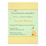 """Buzzing Bees Birthday Invitation 5"""" X 7"""" Invitation Card"""