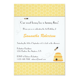Buzzing Bees Birthday Invitation