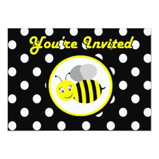 Buzzing Bumble Bee Invitation - Yellow / Black