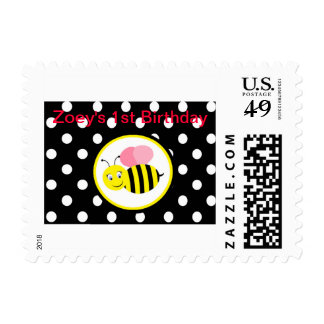 Buzzing Bumble Bee - Pink / Black Stamps