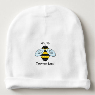 Buzzing Bumblebee and Honeycomb Icon Baby Beanie