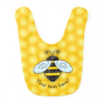 Buzzing Bumblebee and Honeycomb Icon Baby Bib