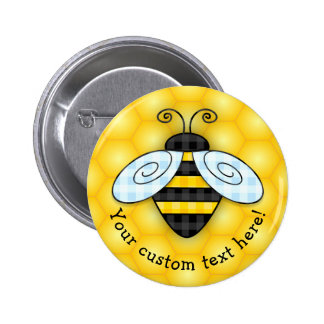 Buzzing Bumblebee and Honeycomb Icon Button