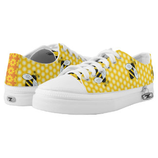 Buzzing Bumblebee and Honeycomb Icon Low-Top Sneakers