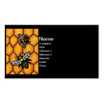 Buzzing Cute Bees Honeycomb Double-Sided Standard Business Cards (Pack Of 100)