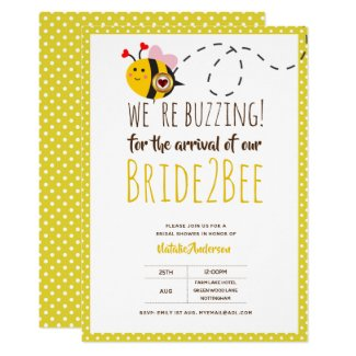 BUZZING For ARRIVAL of BRIDE2BEE Bridal Shower Bee Invitation