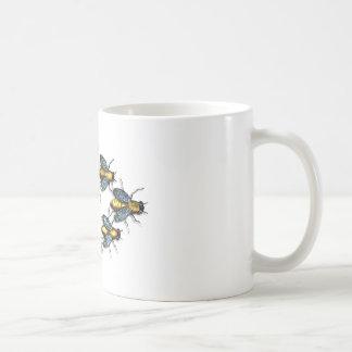 Buzzing Homey Bees Classic White Coffee Mug