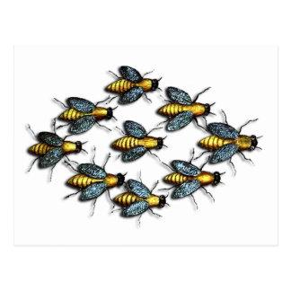 Buzzing Homey Bees Postcard