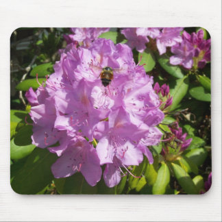 Buzzing Over a Lavender Rhododendron Mouse Pad