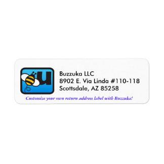 Buzzuka Return Address Logo Label Sample Return Address Label