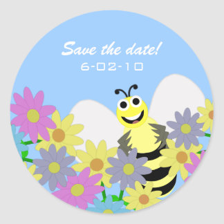Buzzy Bee Save the date Stickers