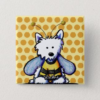 Buzzy Bee Westie Button