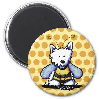 Buzzy Bee Westie Fridge Magnets